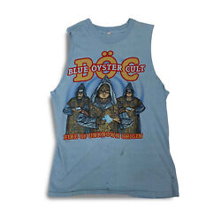 1981 Vintage Boc Blue Oyster Cult Fire Of Unknown Tour Origin Tank Top Rare Thin