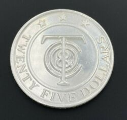 And Co. Sterling Silver 925 25 Redeemable Money Merchandise Token Coin