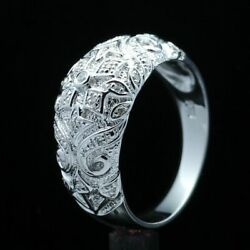 Jewelry Sets Vintage Antique Sterling Silver 925 Natural Diamond Wedding Ring