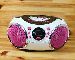 Hello Kitty Sanrio CD Player AM FM Radio Speaker Boombox Tested and working 2013