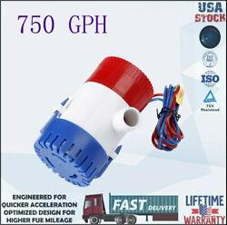 12v Boat Yacht Marine Automatic Electric Submersible Bilge 750gph Water Pump
