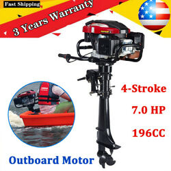 4-stroke 7 Hp Outboard Motor Fishing Boat Engine W/air Cooling Andtci System 196cc