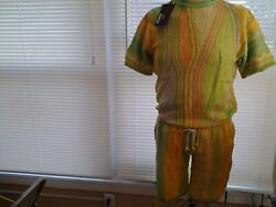 Coogi Style Bergati Matching Top And Bottom Ensemble 1150 New Brand With Tags