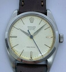 Vintage Rolex Oyster Royal Ref 6426 Manual Wind 34 Mm From 1962
