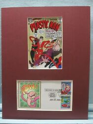 Dc Comic Book Hero Plastic Man And First Day Cover Of His Own Stamp