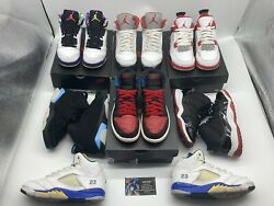 Nike Air Jordan 1 4 5 6 Retro Ps Andldquounc To Chi Fire Red Bel Air Laneyandrdquo Size 1