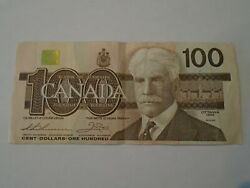 1988 Canadian 100 Dollar Bill/bank Note Bank Of Canada Ungraded As Is As Found