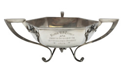 Walker And Hall English 1904 Sterling Silver Centerpiece Bowl In Art Nouveau Style