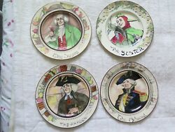 Royal Doulton Series Ware Rack Plates X 4 Admiral Parson Jester Squire