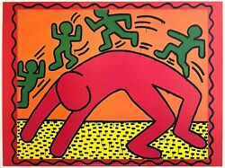 Keith Haring Estate Rare 1999 Pop Art Lithograph Print Poster Untitled 1982