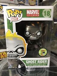 Funko Pop Marvel Ghost Rider Sdcc Exclusive Metallic Le 480 Minty