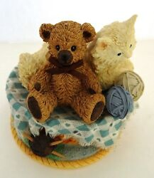 San Francisco Music Box Company Cat And Teddy Bear And039my Favorite Thingsand039