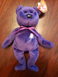 Rare 1st Edition Ty Princess Diana Beanie Baby P.v.c. Pellets Made In Chinaandnbsp
