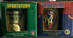 SPORTSTEINES LOT 2 TEAMS NEW YORK YANKEE AND NEWS YORK JETS BRAND NEW IN BOX