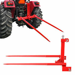 Cat 1 3 Point Attachment W/ 49 Hay Bale Spears 3000 Lb Capacity Tractor Trailer