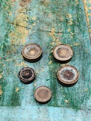 Set Of 5 Indian Antique Brass Jewelry Measuring Scale Weight Gram 20 And 10 Grams