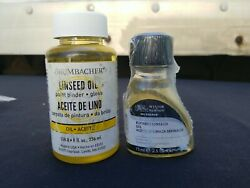 Grumbacher 8oz And Winsor And Newton Refined Linseed Oil 75ml
