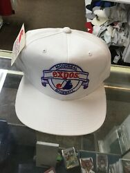 Nwt Vintage Montreal Expos New Era Banner White Snapback Hat Cap New With Tags