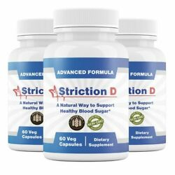 3 Bottles Strictiond Natural Way Support Healthy Blood Sugar Striction D 60 Caps