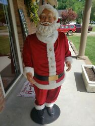 Animated Singing Santa 5ft Tall Turns Head And Moves Side To Side 2004