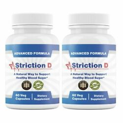2 Bottles Strictiond Natural Way Support Healthy Blood Sugar Striction D 60 Caps