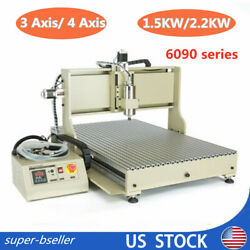 1.5kw/2.2kw -6090 Vfd Cnc Router Metal Drill Mill Engraving Machine - Usb 4 Axis