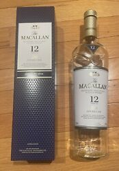 The Macallan 12 Year Double Cask Scotch Whisky Single Malt Empty Bottle With Box