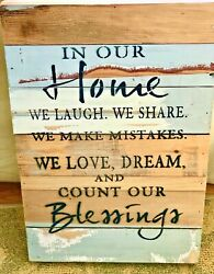 Sweet Birdandco Natural Reclaimed Wood In Our Home Plaque 12 X 18 Beach House