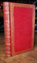 1724 Book Of Common Prayer Red-ruled Fine Leather Binding Psalms Antique Bible