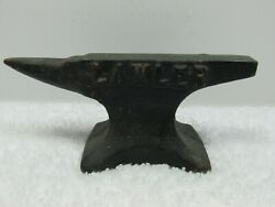 Vintage Miniature Advertising Anvil Small Cast Iron Paperweight Lawler