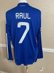 Real Madrid Player Issue Raul Gonzalez Formotion Shirt Football Jersey