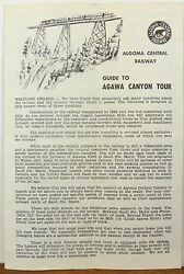 1960and039s 70and039s Algoma Central Railway Agawa Canyon Tour Vintage Brochure And Map B