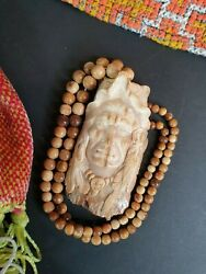 Old Native American Indian Carved Fossilized Necklace Pendant …beautiful Collect