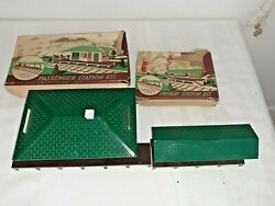 1950s Plasticville O Scale Passenger And Freight Station Kit With Boxes