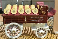 Metlox Poppytrail Budweiser Clydesdale Hitch And Wagon Mint Condition