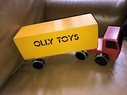 Bin 1970 Vintage Advertising Toy Lorry For Olly Toys Wooden Toy Lorry Ryk Heuff