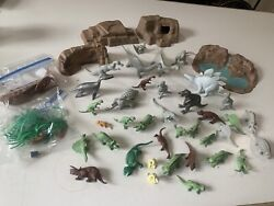 1950's-60's Vintage Marx Prehistoric Times Playset With Multiple Dinasaurs