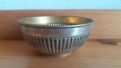 Antique Old Bowl Cup Wash Fingers After Eating Portuguese Silver Sterling Eagle