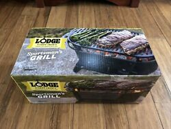 Lodge Sportsman Cast Iron Grill Discontinued New In Factory Sealed Box