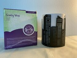 Scentsy Warmer Full Size WRAP Downtown Silhouette Shadow NEW
