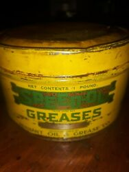 Vintage Speed Ol Grease Can Pennant Oil And Grease Company Los Angeles...