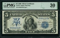 1899 5 Five Dollar Indian Chief Silver Certificate Note Pmg Vf 30 Fr275