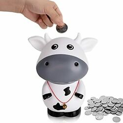 Cute Cow Coin Bank Unbreakable Piggy Bank For Decorations And Toys Birthday G...