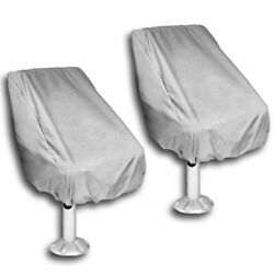 2 Pack Boat Seat Cover Outdoor Waterproof Pontoon Captain Boat Bench Chair Seat