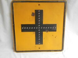 Four Way Intersection Cross Road /street Sign With 29 Cat-eyes
