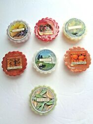 Yankee Candle Wax Tart Lot of MIXED Yankee Tarts Wax 7 Different Scents NEW