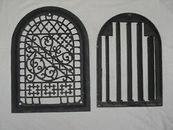 Antique Arched Top Ornate Cast Iron Floor Register Grate Vent 8 X 12 In