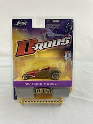 Jada Toys D-rods 1/64 Diecast 2006/wave 3 '27 Ford Model T Cltr025 Chrome Red