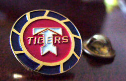 Flying Tigers Air Cargo Freight T Logo Gold Tone Metal And Enamel Pin