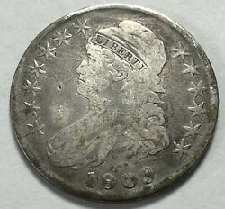 1809 Capped Bust/lettered Edge Half Dollar Silver 50-cents